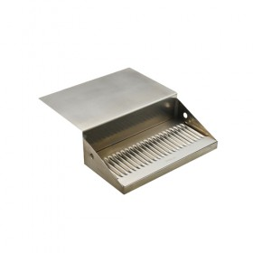 c640-12 x 6 x 8 Jockey Box Drip Tray - Brushed Stainless-Krome