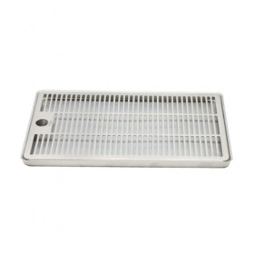 c642-12 x 7 Aluminium Surface Drip Tray - Without Drain-kROME