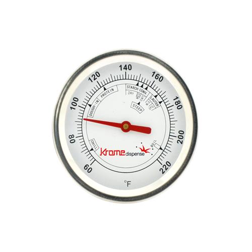 "2.5"" Brew Thermometer with 12"" Stem C6912 kromedispense"