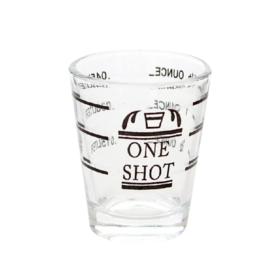 "SHOT GLASS ""ONE SHOT"" PROFESSIONAL LINED MEASURE C7045 kromedispense"