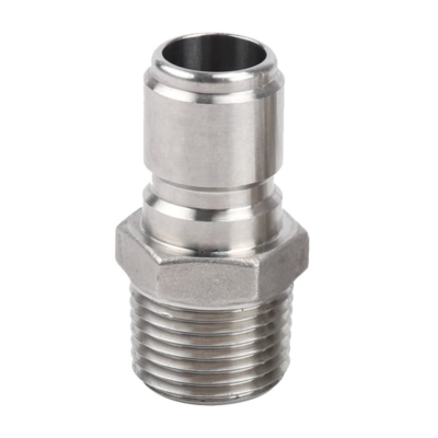 "1/2""MPT Threaded Stainless Steel Male Quick Disconnect C752 kromedispense"