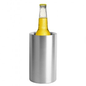 C783 - Stainless Steel Ice Bucket Double Walled Wine Chiller, Brushed Stainless - Krome
