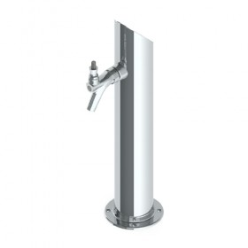Taper Cut Tower – 1 Faucet – SS Polished – Glyco Cold Technology-C826