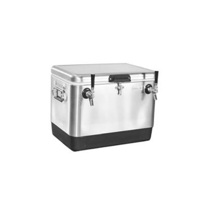 Double Tap Steel Belted Cooler Jocky Box with(50 ft x 5/16″od)-C4102-KROMEDISPENSE